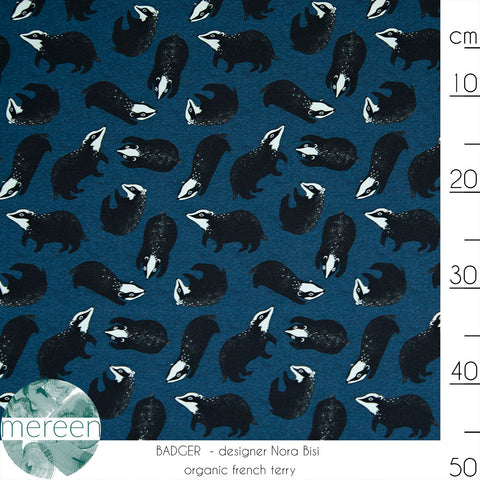 Badger - Dark Blue French Terry