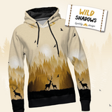 Wild Shadows Panel - Mustard Deer French Terry