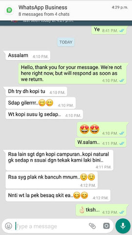 Testimoni Serbuk Kopi Ajaib / Miracle Coffee Powder - Bioshifax Marketing