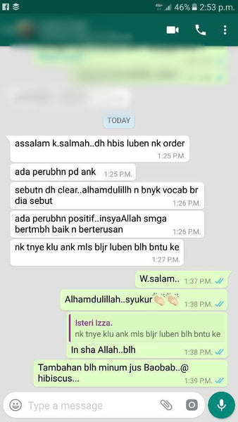 Testimoni Chewable Tablet Luban - Bioshifax