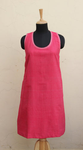 Pink fitted shift dress - LoaferJama