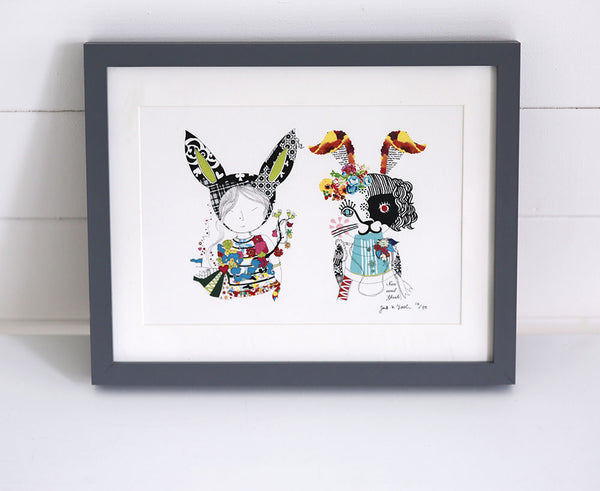 'Bunny Girls' Limited Edition Art Print