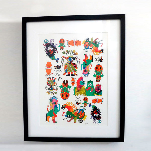 'Monsters Gang' Limited Edition A3 Art Print (Unframed)