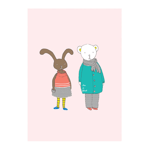 'Bunny and Bear' Limited Edition Art Print