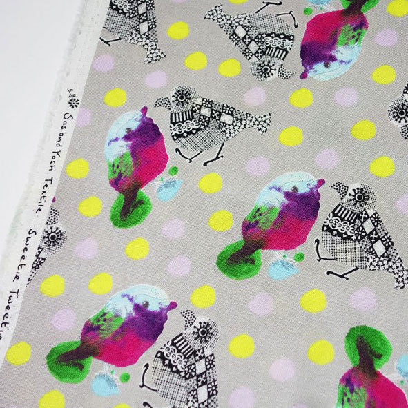 'Sweetie Tweetie' Limited Edition Textile・Sold by Metre