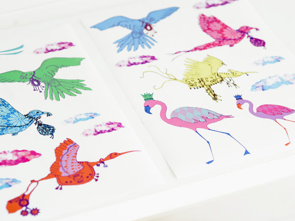 'Flying Journey' Bird Wall Stickers