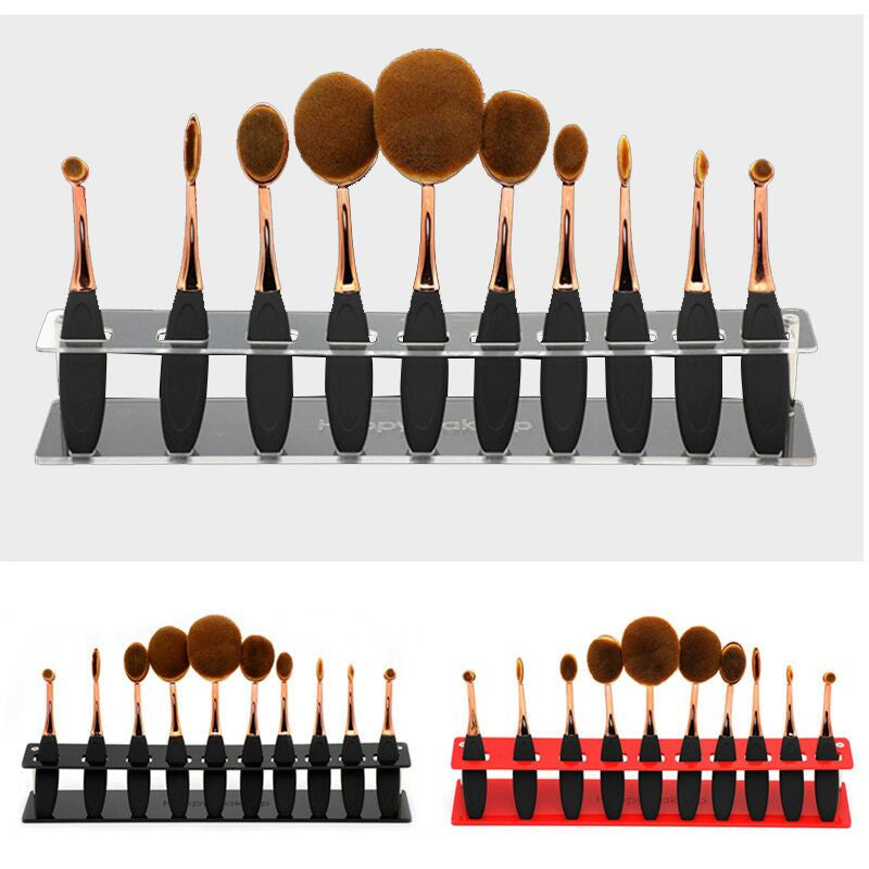 Oval Make Up Brush Holder - Bounce Essential Hair