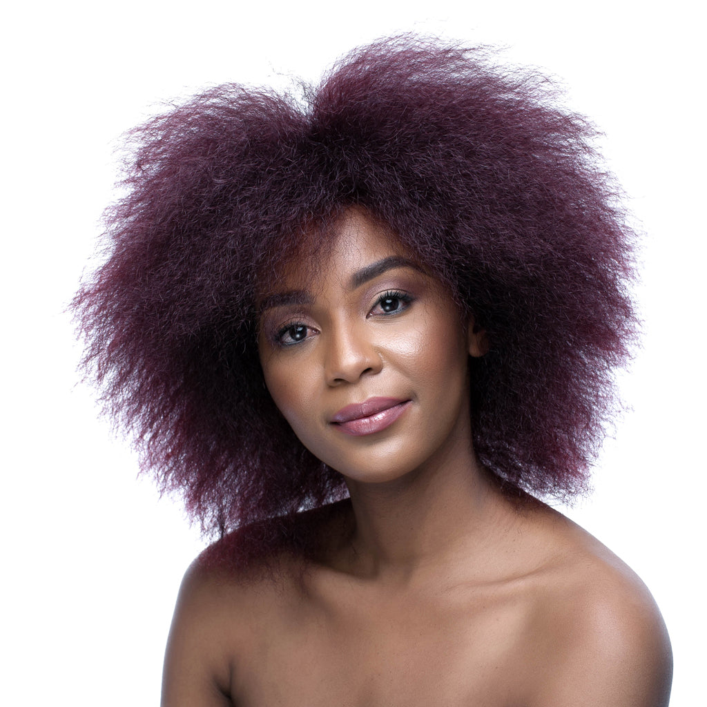 Burgandy Synthetic 8 inch Blow Out Wig