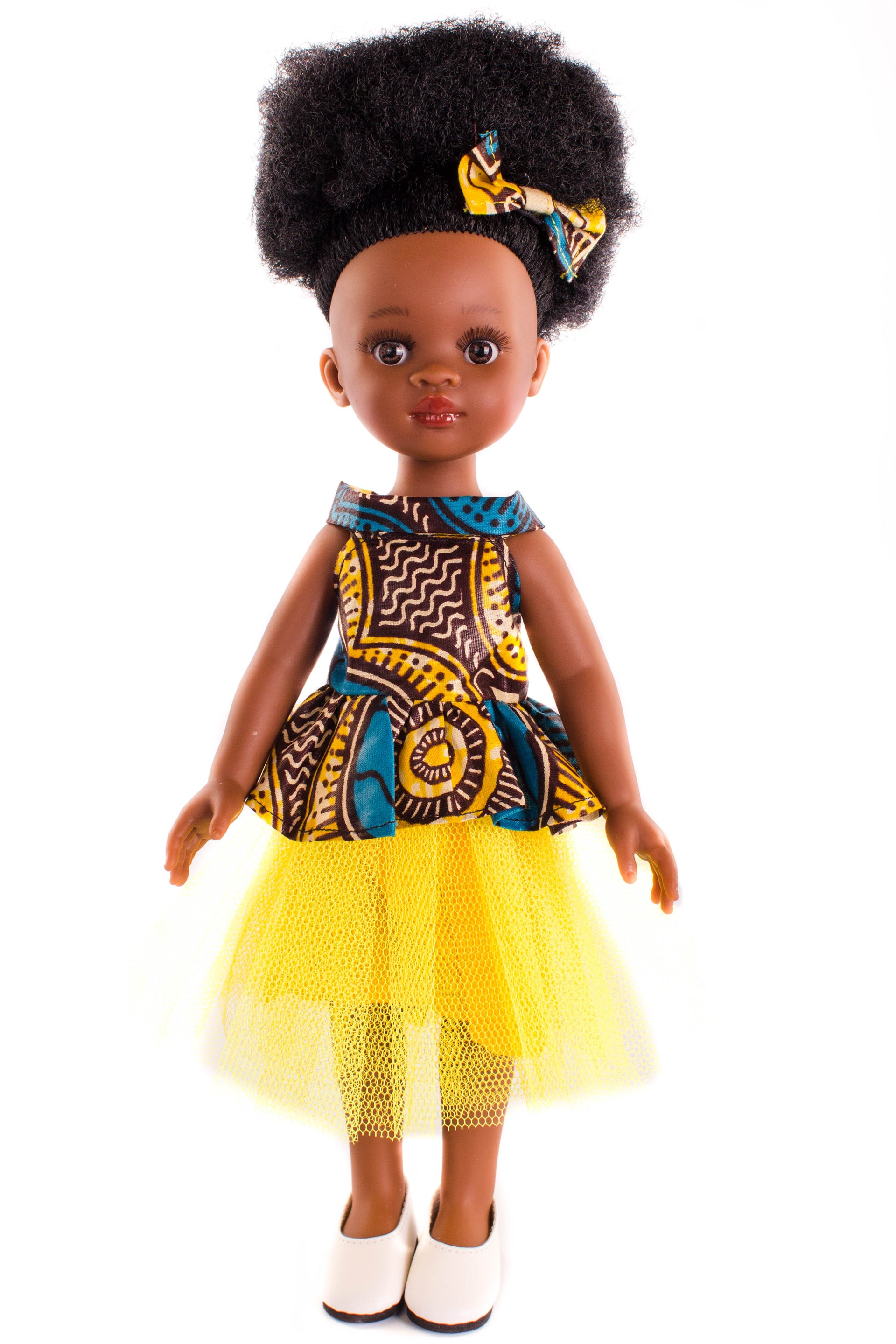 Bontle Princess Doll (28cms) - Dressed in Yellow - Bounce Essential Hair