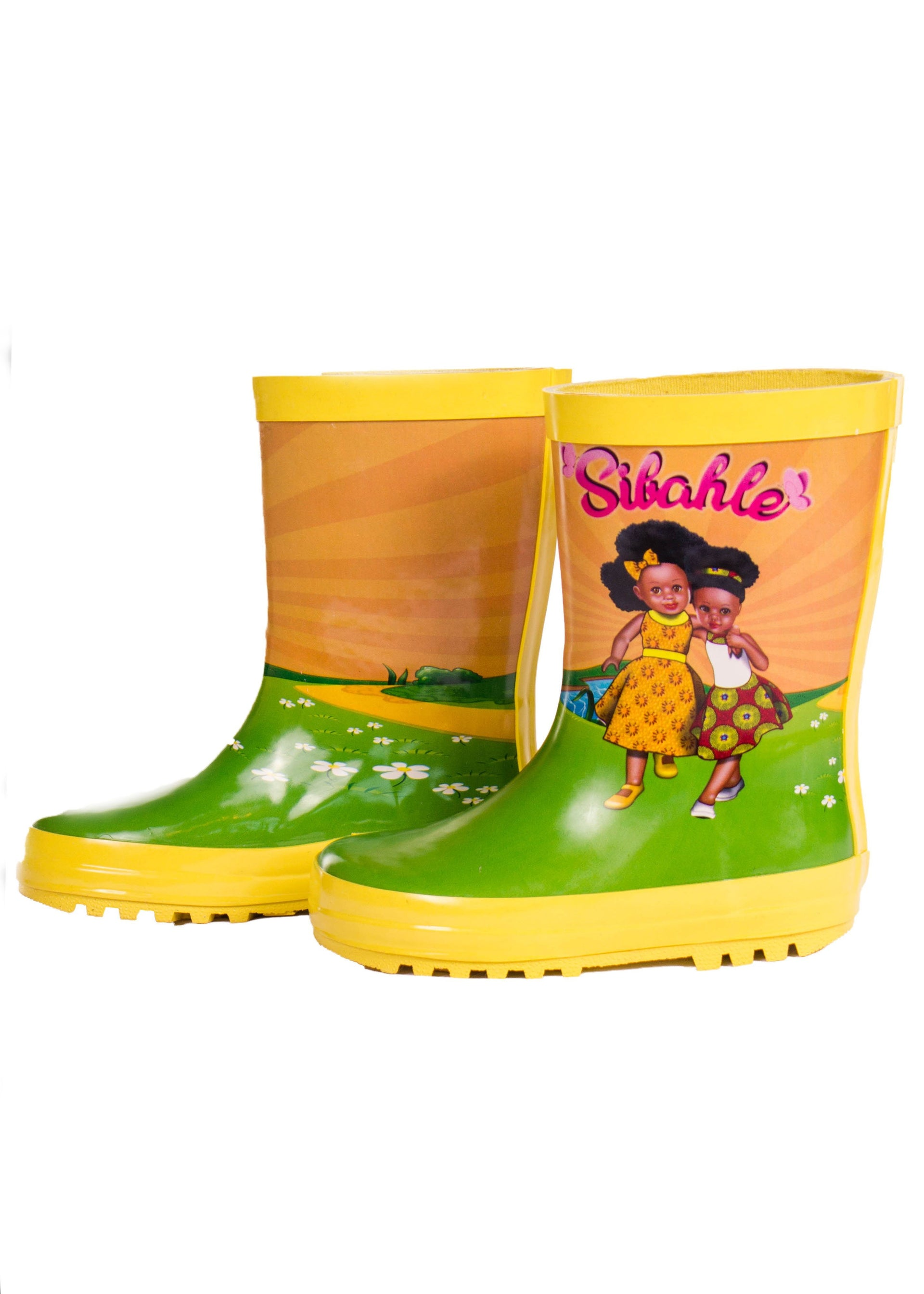 Sunshine Yellow Wellingtons - Bounce Essential Hair