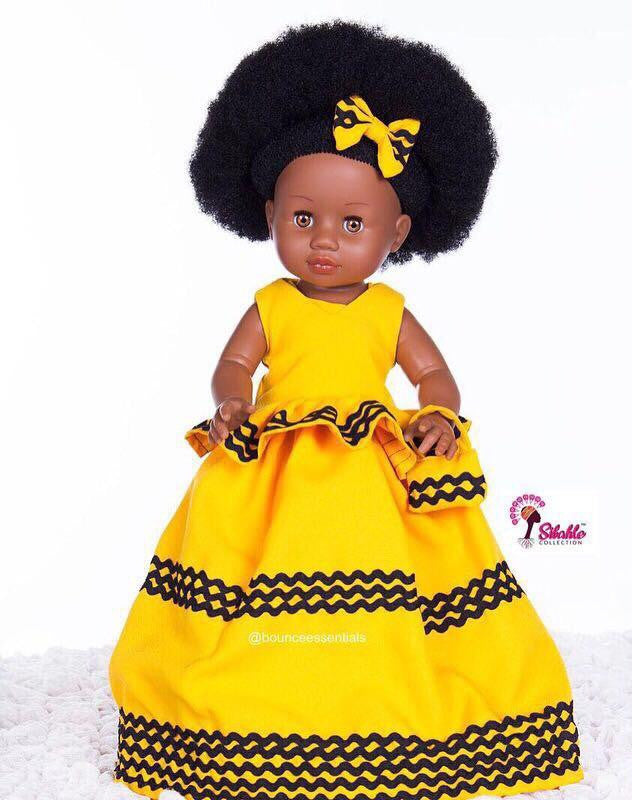 Dress for Nobuhle Doll (Dress Only) - Xhosa Princess Dress - Bounce Essential Hair