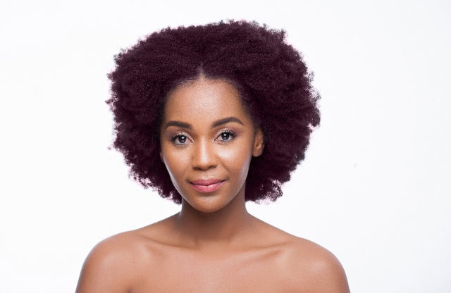 B E Afro Synthetic Burgandy Wig 14 inch - Bounce Essential Hair