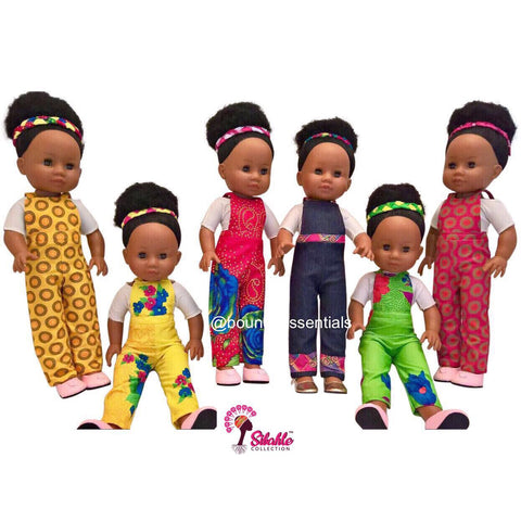 Buhle Black Doll Dungarees