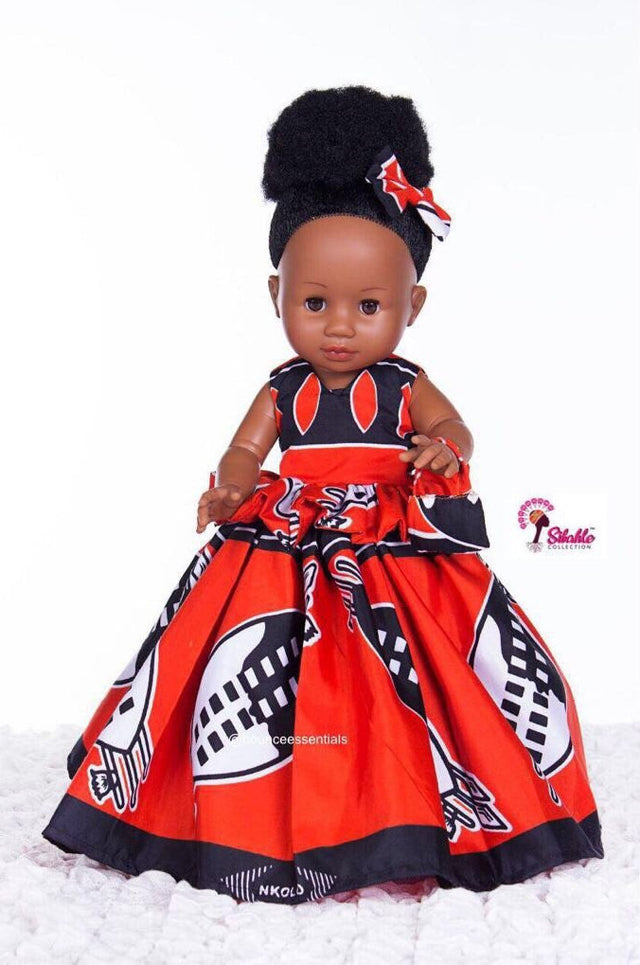 Dress for Nobuhle Doll (Dress Only) - Tswana Princess Dress - Bounce Essential Hair