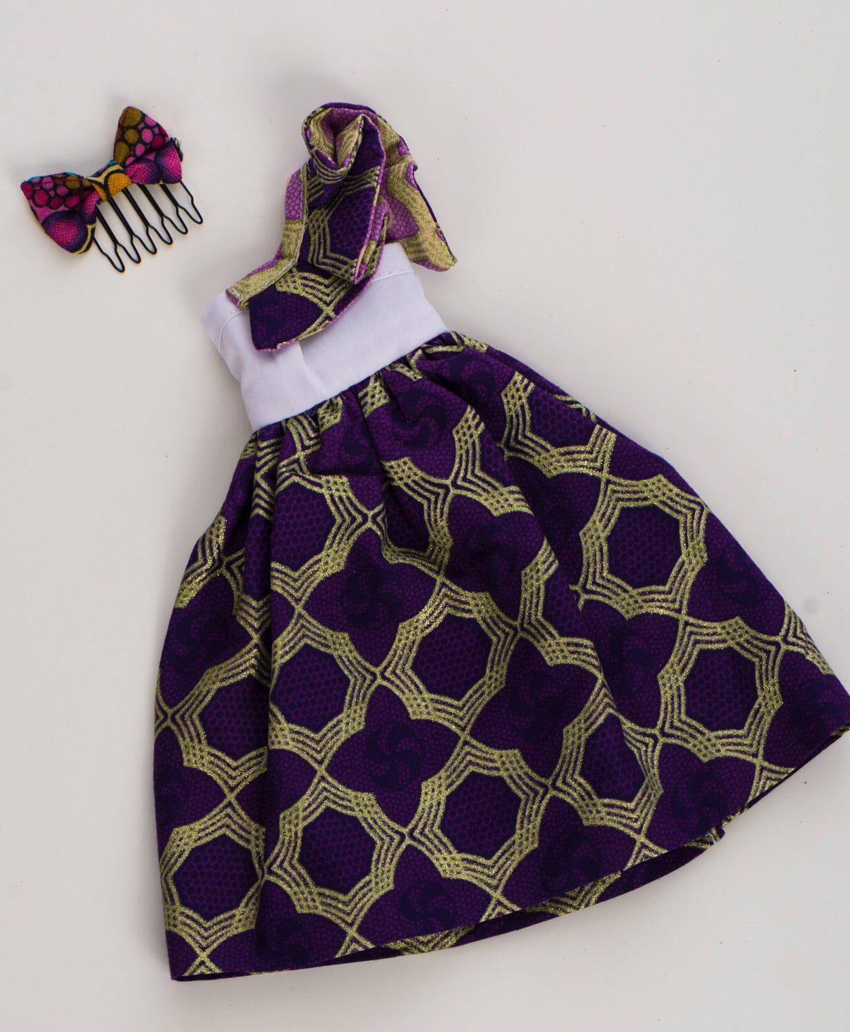 Dress for Bontle Doll (Dress Only) - Side Bow Dress