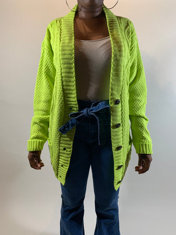 Green Fall Cardigan