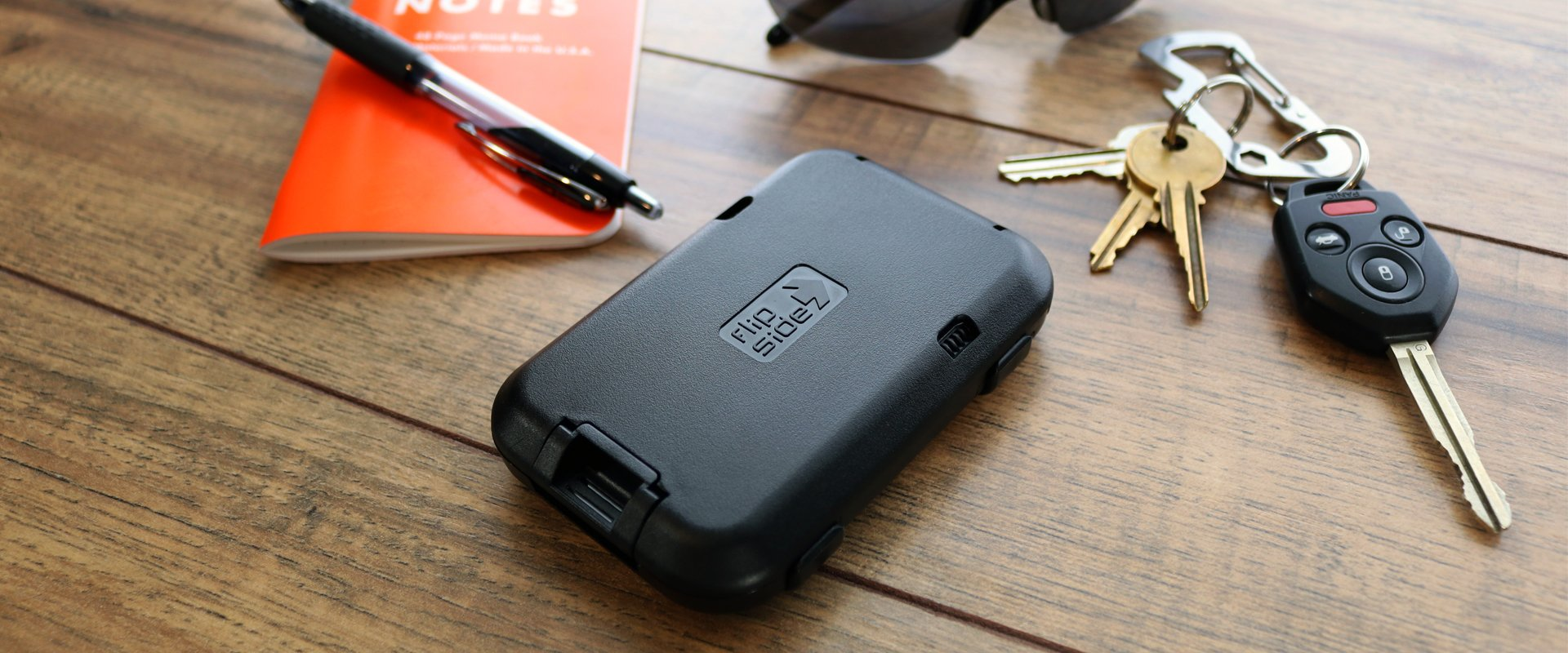 The flipside wallet is also a crush resistant hardcase wallet that protects your cards from damage