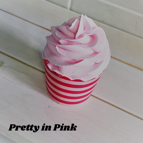 Pretty in Pink ~ Bubble Bath Bomb Cupcake