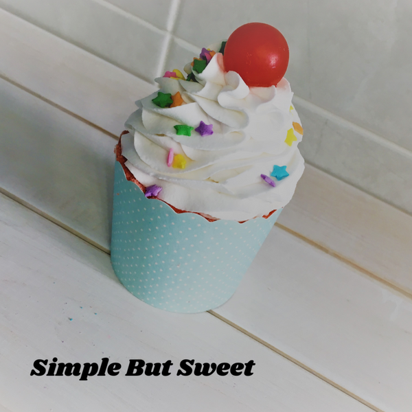 Simple but Sweet ~ Bubble Bath Bomb Cupcake