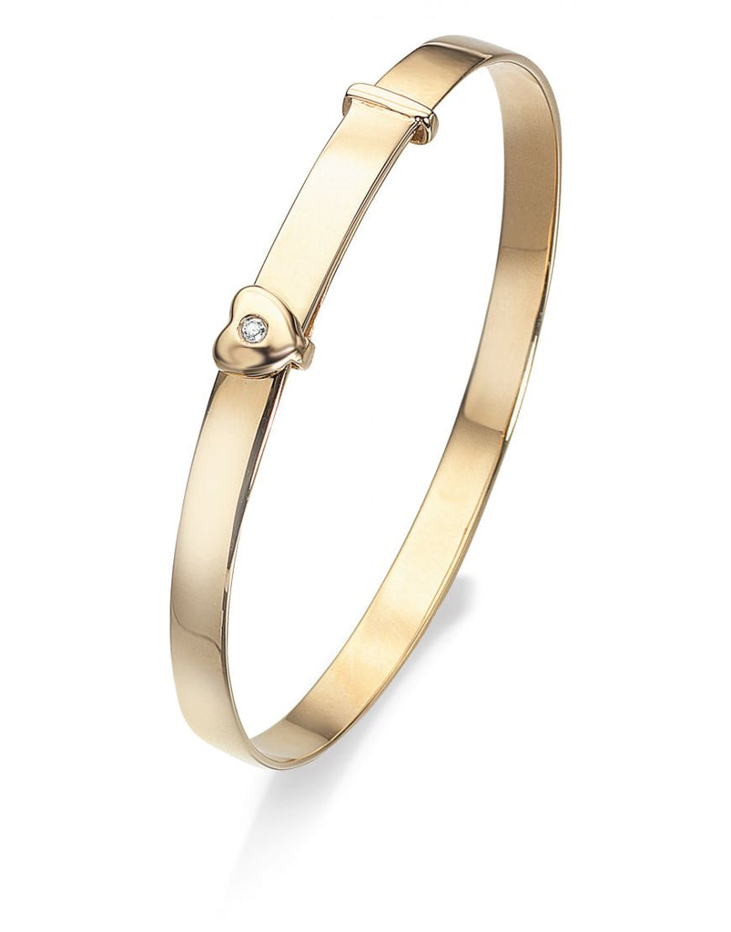 9ct Gold Diamond Baby Bangle