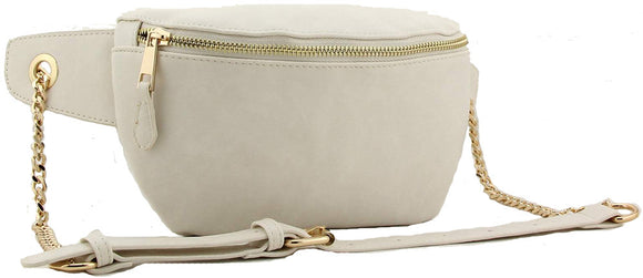 Tiffany - Fashion Designer Waist Bag/Bum Bag - White