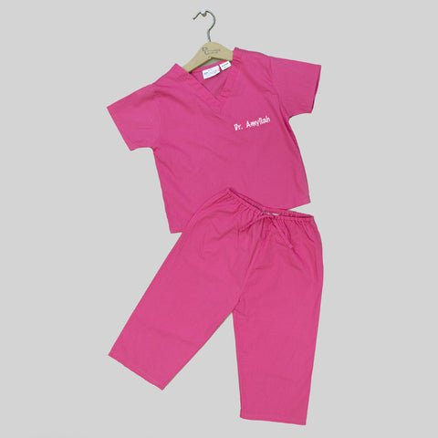 Infant and Toddler My First Scrubs - Hot Pink