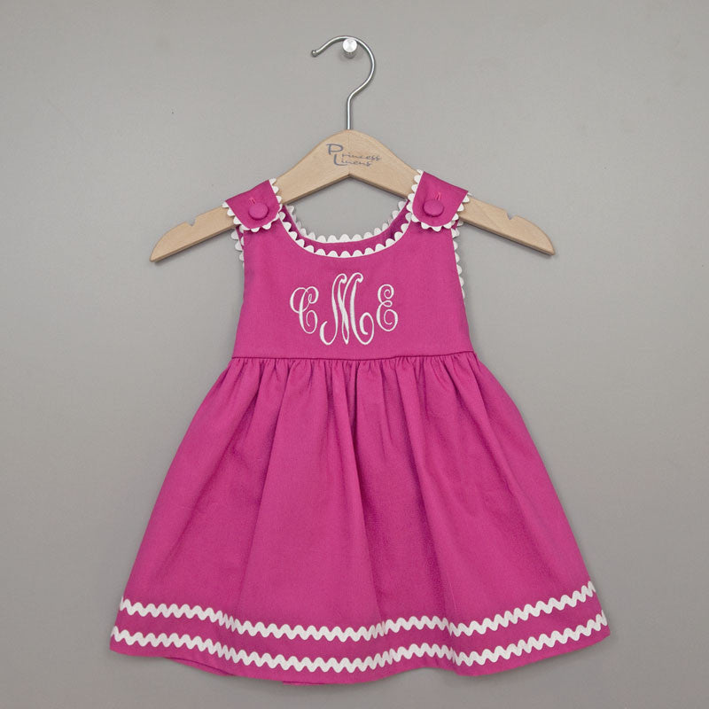 Pique Dress Pink/White
