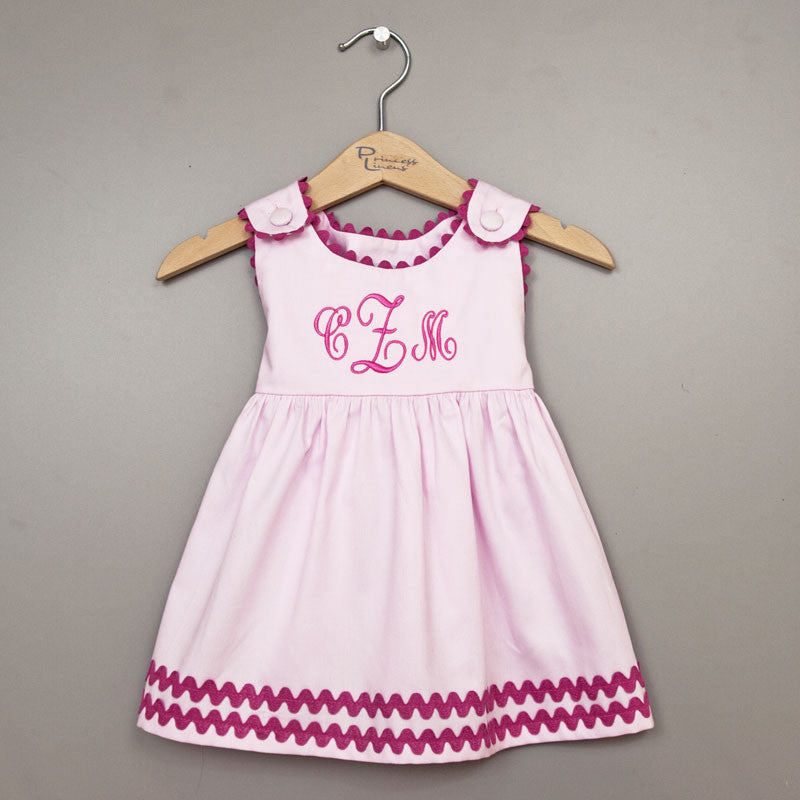 Pique Dress Pink/Hot Pink