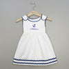 Pique Anchor Dress-White/Navy