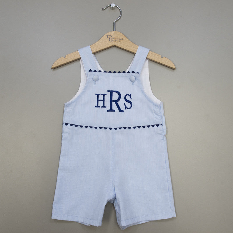 Pinstripe Shortall Blue/Navy