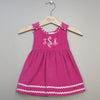 Corduroy Dress Hot Pink/Light Pink