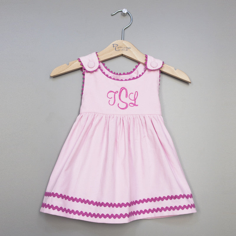 Corduroy Dress Pink/Hot Pink
