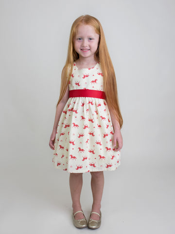 Giddy Up Dress with Red Sash