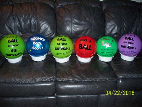 ShipaBall row of gift balls variety