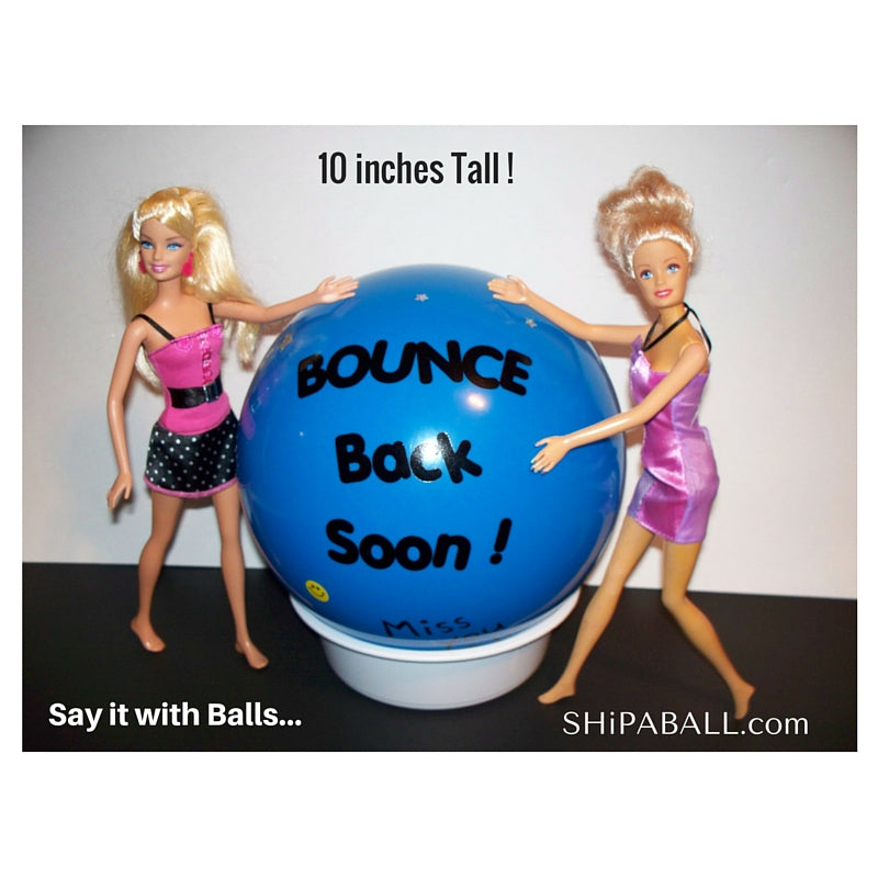 ShipaBall.com blue get well ball Barbie models