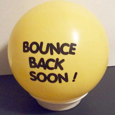 Yellow Bounce back get well gift ball ship a ball .com