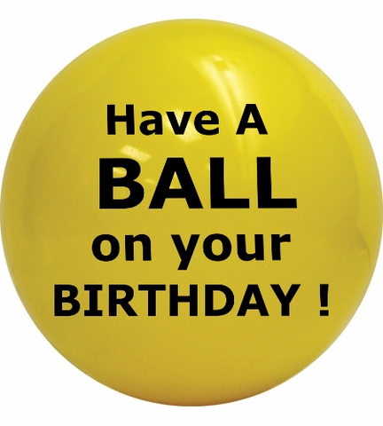 ShipaBall.com yellow birthday gift send a ball black letters