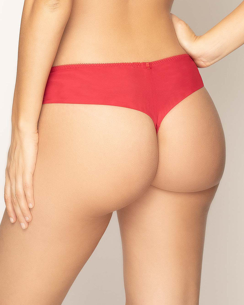 Apolline Embroidered Tulle Thong