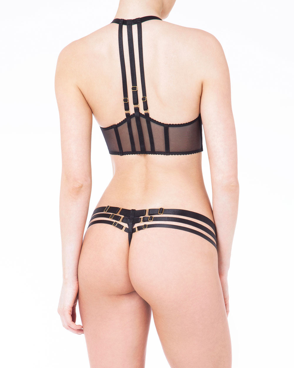 Art Deco Multi Strap Thong