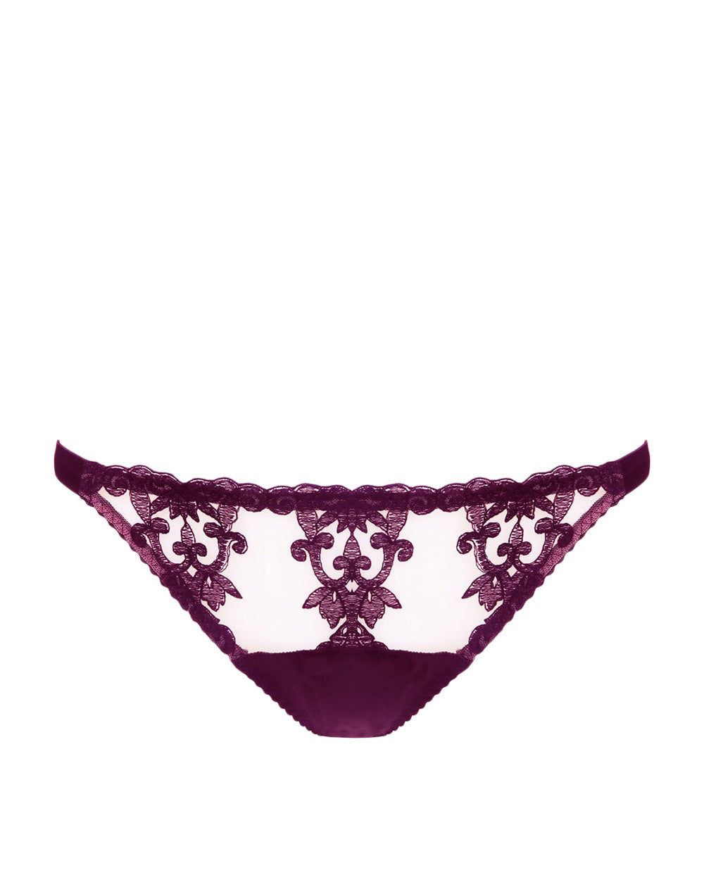 Bordeaux Ouvert Silk Brief