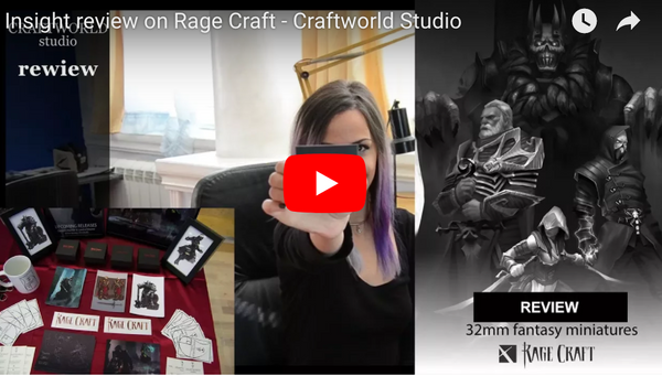 Our miniatures reviewed by Craftworld Studio !!!! – Rage Craft