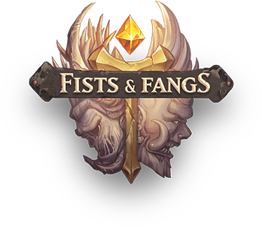 Fists and fangs logo