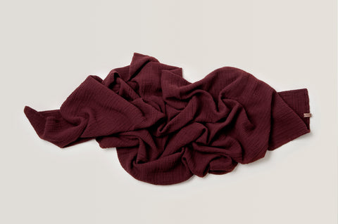 Muslin Swaddle • Burgundy