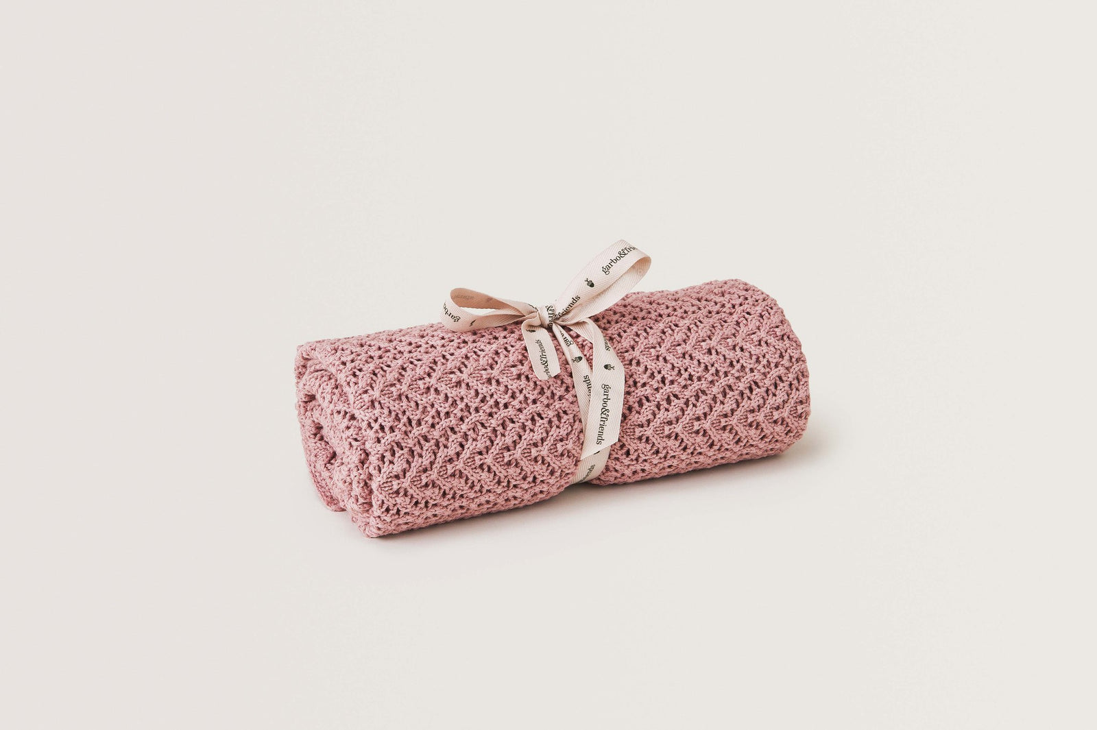 Berry Crochet Cotton/Wool Blanket