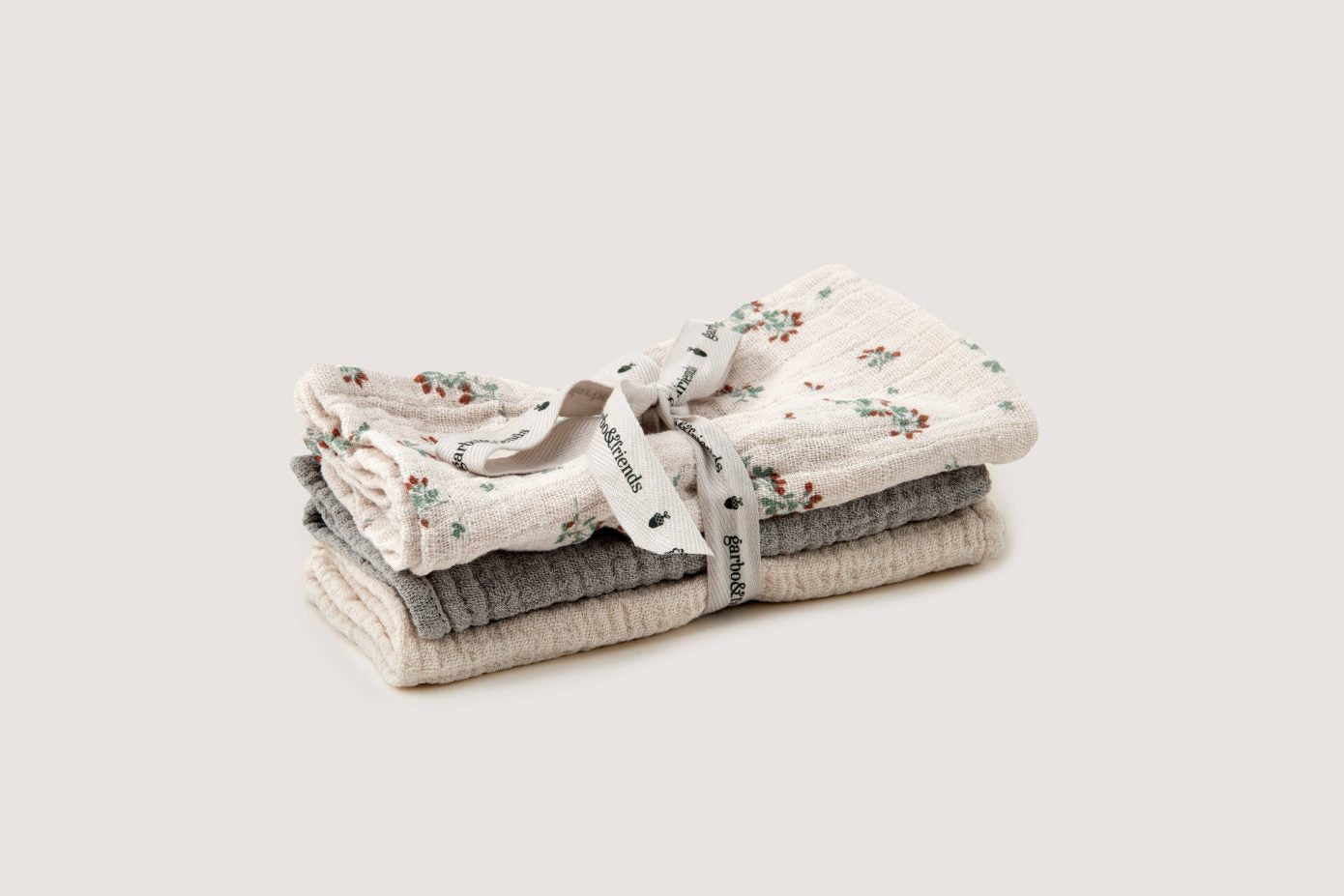 Clover Muslin Burp Cloths