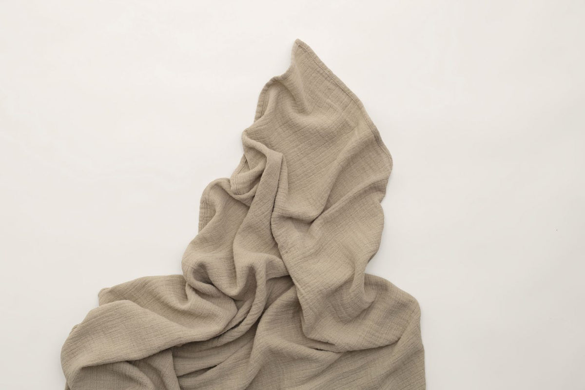 Olive Muslin Swaddle