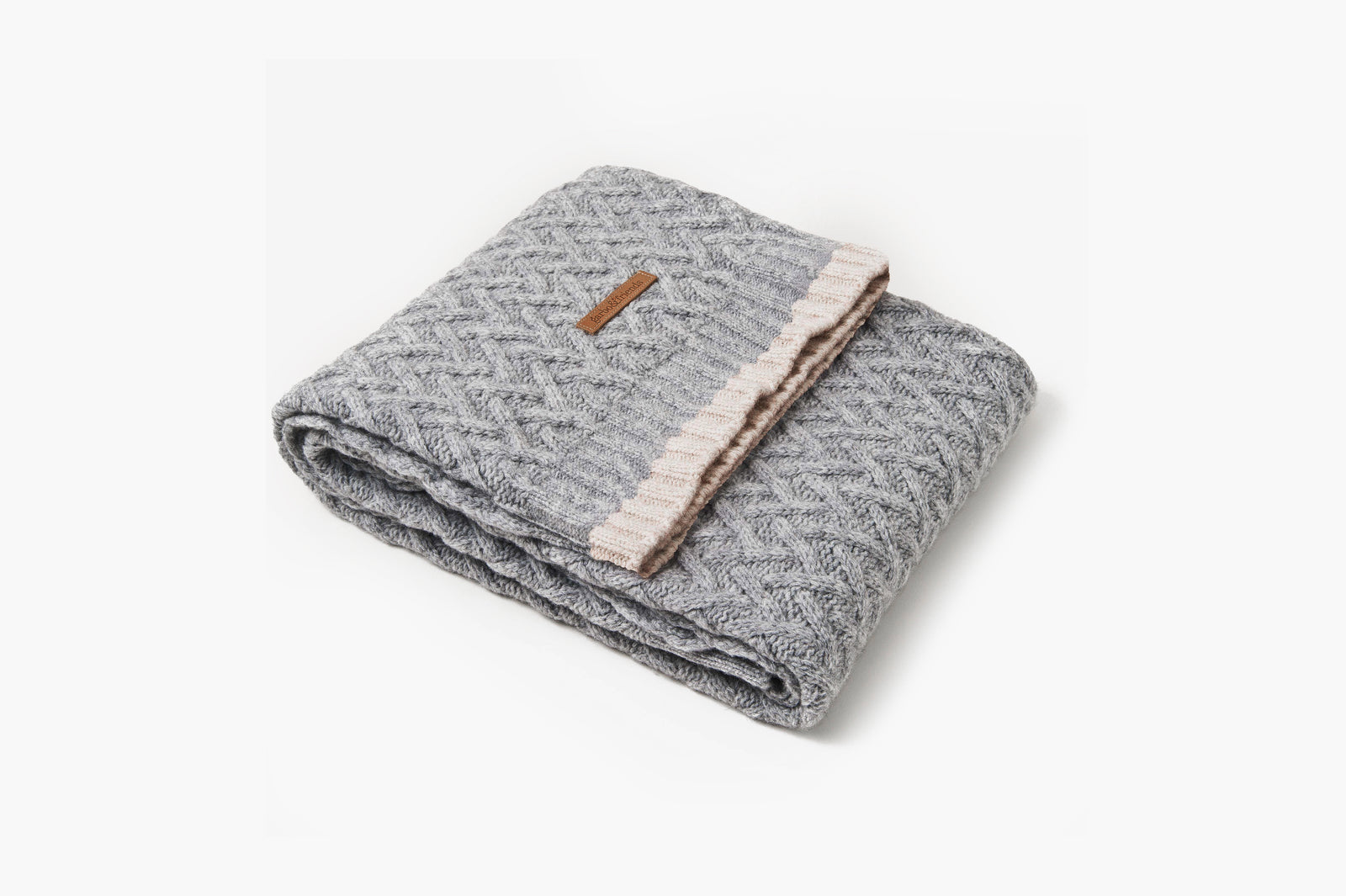 Chevron Wool Blanket • Pewter