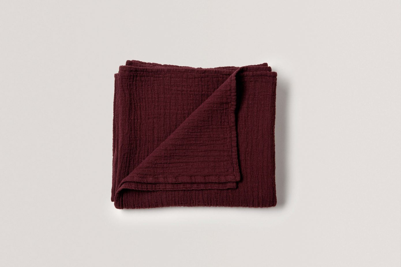 Burgundy Muslin Swaddle