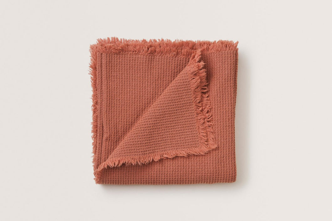 Coral Waffle Blanket