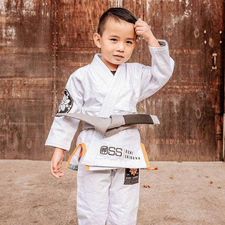 OSS Kimonos | New Era | White (Youth)